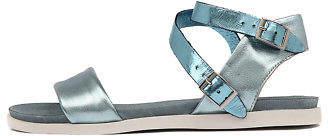 Django & Juliette New Hoppy Blue Shine Leather Blue Blue Womens Shoes Casual