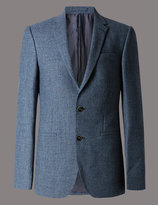 Marks And Spencer Pure Wool Tailored Fit Jacket With Buttonsafetm