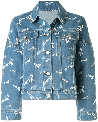 PortsPURE Text-Print Denim Jacket