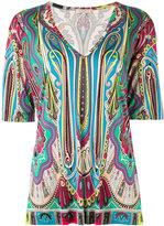 Etro paisley print T-shirt - women - Silk - 46