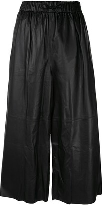 Yves Salomon high-waist leather trousers