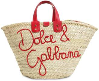 Dolce & Gabbana KENDRA EMBROIDERED LOGO TOTE BAG