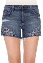 Joe's Jeans Cut-Off Embroidered Denim Shorts