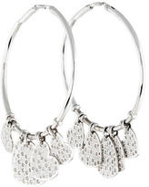 Christian Dior 18K Diamond Heart Hoop Earrings