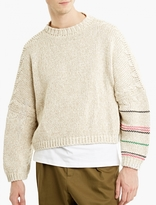 J.W.Anderson Oatmeal Chunky Oversized Sweater