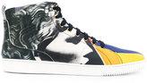 Versace patterned hi-top sneakers