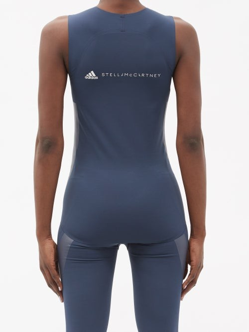 Thumbnail for your product : adidas by Stella McCartney Supportcore Jersey Performance Tank Top - Navy