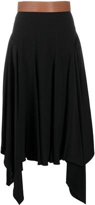 Loewe Asymmetric Draped Belted Skirt