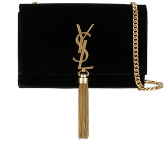 Saint Laurent Kate Monogram tassel shoulder bag