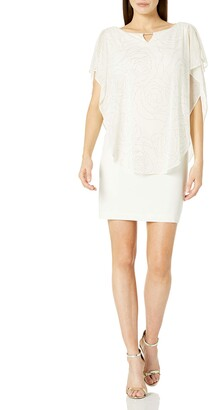 Sandra Darren Women's 1 Pc Sleeveless Overlay Chiffon Dress