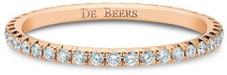 De Beers 18kt rose gold diamond Aura Eternity band ring