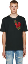 Dolce & Gabbana Green & Red Flower T-Shirt