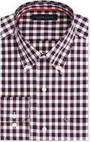 Tommy Hilfiger Men's Classic-Fit Non-Iron Dark Red Check Dress Shirt