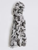 Marks and Spencer Gothic Print Scarf