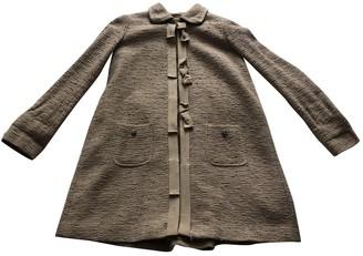 Twin-Set Twin Set Beige Cotton Coat for Women
