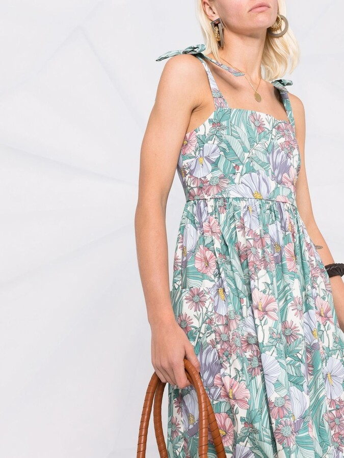 Thumbnail for your product : Tory Burch Floral-Print Sleeveless Midi Dress