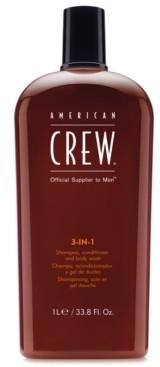 American Crew 3-In-1 Shampoo, Conditioner & Body Wash, 33.8-oz, from Purebeauty Salon & Spa