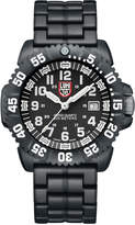 Luminox 44mm Navy SEAL 3050 Series Colormark Watch, Black/White