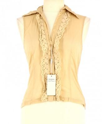 Alberta Ferretti Beige Cotton Top for Women
