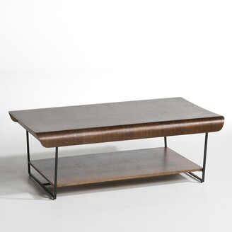 Am.pm. Bardi Walnut & Metal Coffee Table by E. Gallina