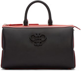 Emilio Pucci Black & Red Leather Logo Bag