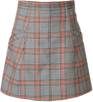 Rachel Gilbert Riley fitted plaid mini skirt