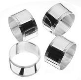 Arthur Price Swirl Silver Plated Napkin Ring Set of 4