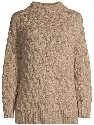 Lafayette 148 New York Chine Cable-Knit Sweater