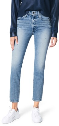 Joe's Jeans The Luna High Waist Distressed Ankle Cigarette Jeans