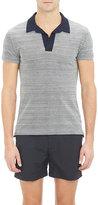 Orlebar Brown Men's Felix Polo Shirt-GREY