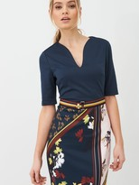 Ted Baker Madiiy Savanna Bodycon Dress - Dark Blue