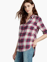 Lucky Brand Button Side Plaid