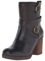 Lucky Brand Womens Orenzo Leather Almond Toe Mid-calf Motorcycle Boots.