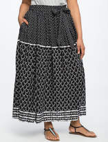 ELOQUII Side Tie Maxi Skirt