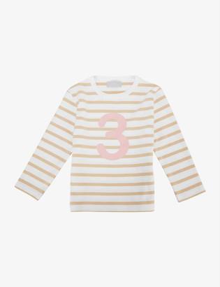Bob & Blossom 'Three' striped cotton T-shirt 3-4 years