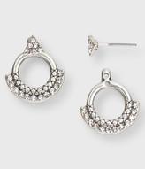 Pavé Circle Stud Earrings