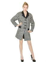 Moschino Cheap & Chic Houndstooth Pattern Wool Coat