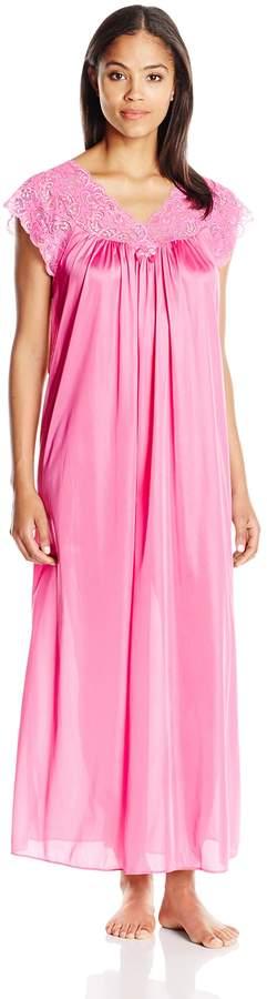 Shadowline Women's Silhouette 53 Short Cap Sleeve Long Gown