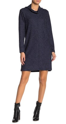 Max Studio Cowl Neck Knit Sweater Dress