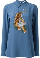 Stella McCartney tiger embroidery top