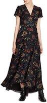 Polo Ralph Lauren Silk Georgette Wrap Maxidress