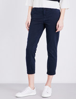 J Brand Josie turn-up mid-rise jeans