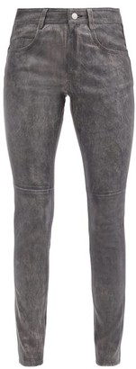 Etoile Isabel Marant Taro Leather Trousers - Black