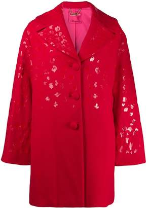 Blumarine leopard print coat