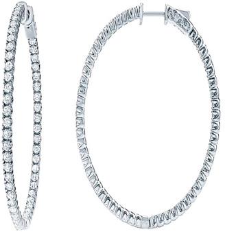 Diana M Fine Jewelry 18K 4.15 Ct. Tw. Diamond Hoops