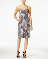 INC International Concepts Petite Printed Surplice Dress, Only at Macy's
