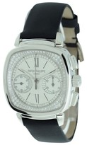 Patek Philippe Chronograph Diamond Dial 18K White Gold Womens Watch