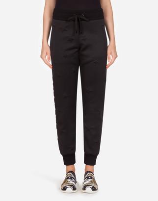 Dolce & Gabbana Millennials Star Scuba Fabric Jogging Pants