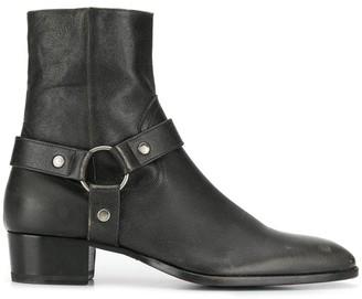 Saint Laurent Wyatt Harness boots