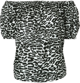 Piamita Rosie Off Shoulder Top - Leopard